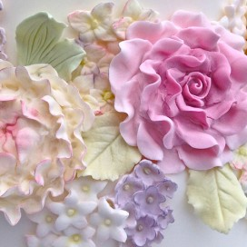 Karen Davies Cupcake Top mould - Single Rose