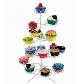Cake stand, half round stairs, 4 tiers