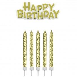 PME Candles & Happy Birthday Blue pk/17