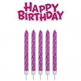 PME Candles & Happy Birthday Gold pk/17