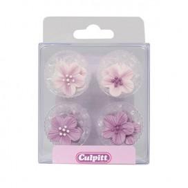 Culpitt rožinės cukrinės gėlės -12 vnt.