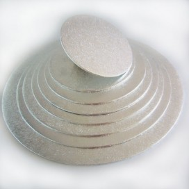 FunCakes sidabrinis padėklas apvalus Ø25cm (4mm)