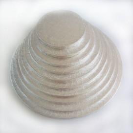 FunCakes sidabrinis padėklas apvalus Ø12,5cm (4mm)
