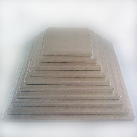 FunCakes sidabrinis padėklas kvadratinis 10,2 x 10,2 cm (4 mm)