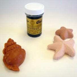 Sugarflair ruda konkorėžių (chestnut) geliniai dažai - 25g.