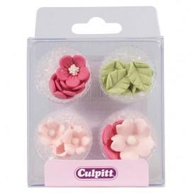Culpitt Sugar Decorations Flowers & Leaves Lilac pk/16