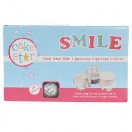 Cake Star Push Easy Mini Lower Case Alphabet Cutters