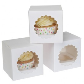 House of Marie Cupcake Box 1 -Confetti- pk/3