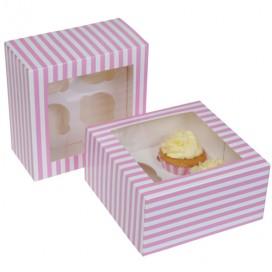 House of Marie Cupcake Box 1 -White- pk/3