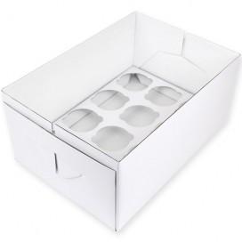 House of Marie Cupcake Box 4 -White- pk/2