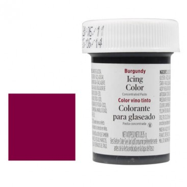 Wilton burgundy icing colours - 28g.