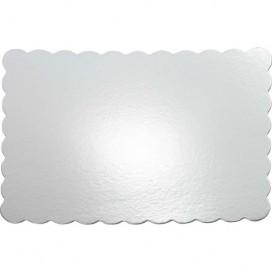 Wilton apvalūs, banguotais kraštais, sidabriniai padėkliukai tortui Ø30cm - 8vnt.