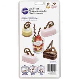 Wilton šokoladinių saldainių darymo formelė - lūpos