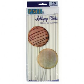 PME 20 cm popieriniai pagaliukai cake pop'sams (25 vnt)