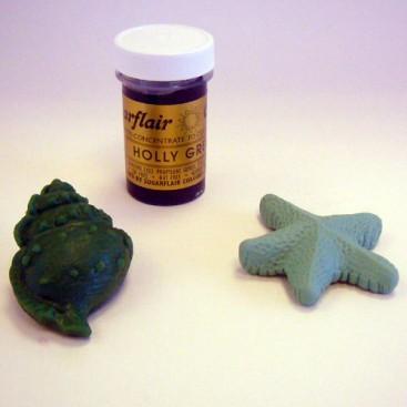 Sugarflair tamsiai žalia spalvos koncentruoti geliniai dažai - 25g.