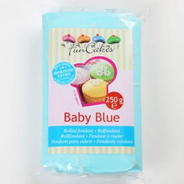 FunCakes žydra (baby blue) cukrinė masė - 250g
