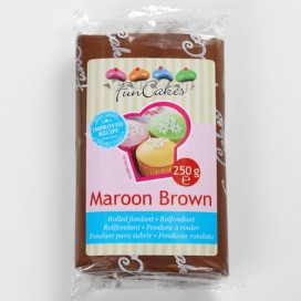 FunCakes maroon brown fondant - 250g