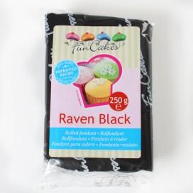FunCakes raven black fondant - 250g
