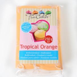 FunCake oranžinė (tropical orange) cukrinė masė -250g
