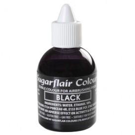 Sugarflair juodi (black) dažai purškimo aparatui - 60ml.