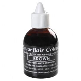 Sugarflair rudi (brown) dažai purškimo aparatui - 60ml.