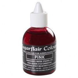 Sugarflair rožiniai (pink) dažai purškimo aparatui - 60ml.