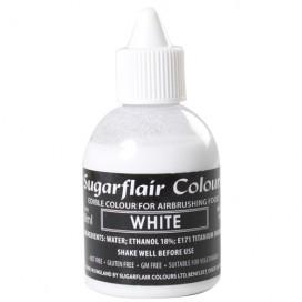 Sugarflair balti (white) dažai purškimo aparatui - 60ml.