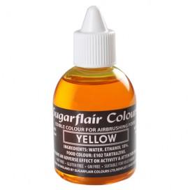 Sugarflair geltoni (yellow) dažai purškimo aparatui - 60ml.
